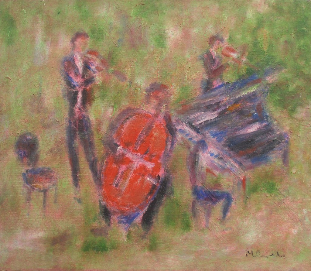 Musicians-oil on canvas-50x60cm
