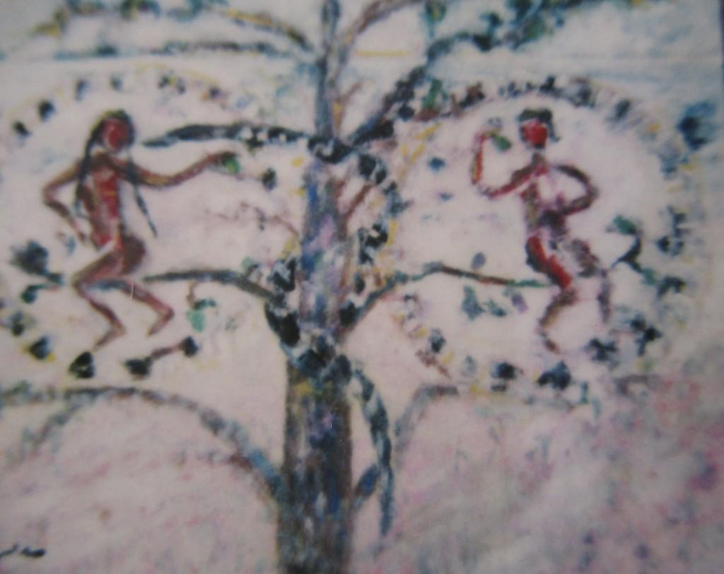 Otranto mosaic-watercolour-40x50cm