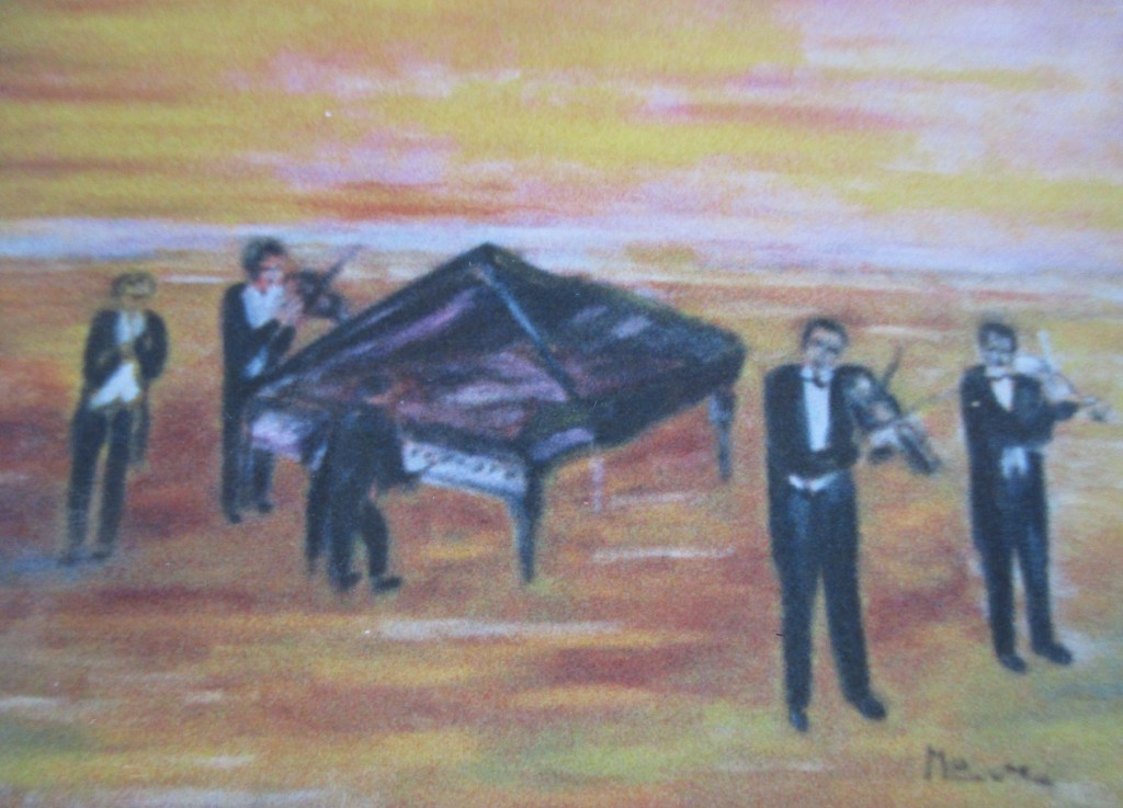 Sunset concert-oil on canvas-50x70cm