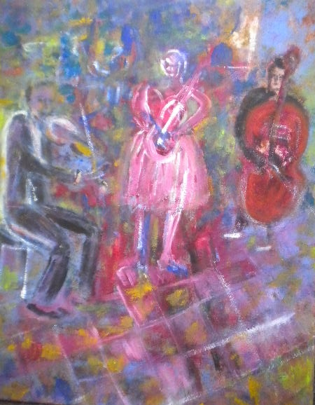 Music group-oil on canvas-50x60cm