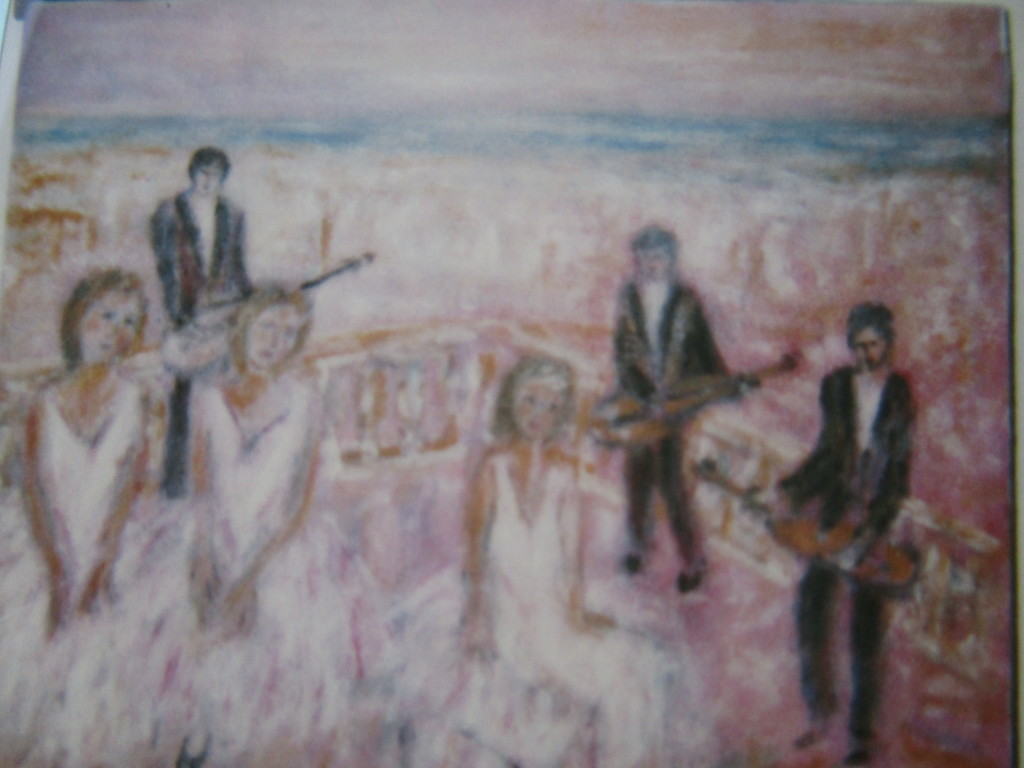 Terrace music-oil on canvas-50x70cm