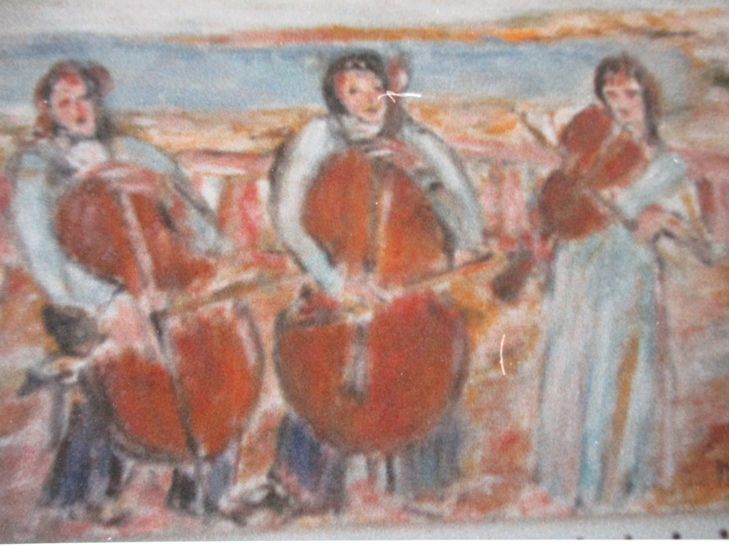 The strings-oil on canvas-50x70cm