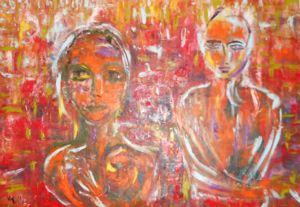 Migrants-oil on canvas-70x100cm