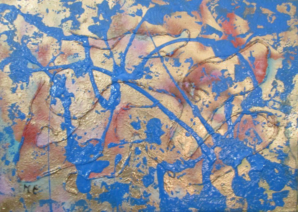 Sky-acrylic and mixed media on canvas-50x70cm