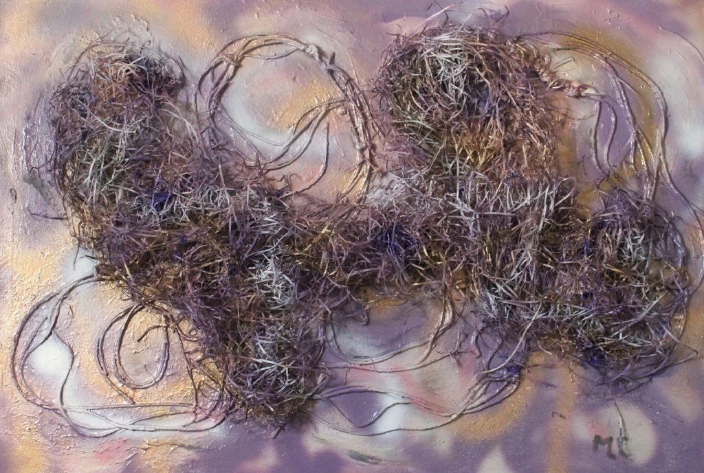 Lilac-mixed media on canvas-60x90cm